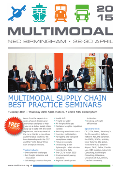 MultiModal Supply Chain BeSt praCtiCe SeMinarS