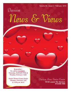 Newsletter - Davison Area Senior Center