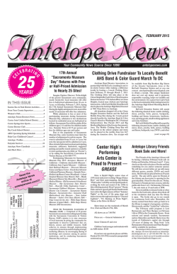February - The Antelope News
