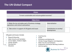Melissa Powell, UN Global Compact