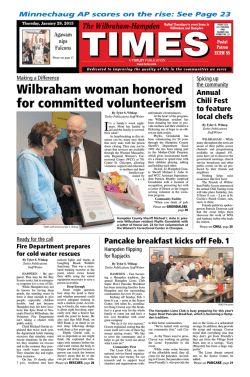 January 29, 2015 PDF Edition - Wilbraham