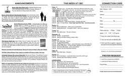 Bulletin 1/25/15 - Community Bible Church
