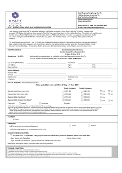 reservation form - Gordon Research Conferences