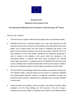 29 January 2015 - United Nations Office on Drugs and Crime