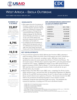 West Africa - Ebola Outbreak Fact Sheet #18