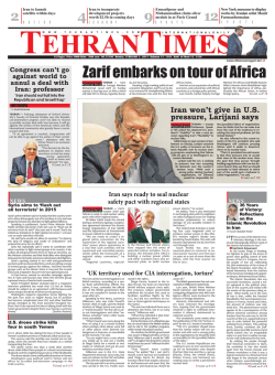 Zarif embarks on tour of Africa