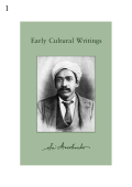 Early Cultural Writings