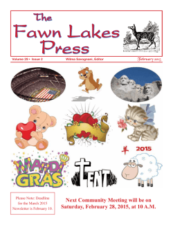 The fawn lakes press