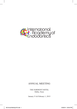 2015 Program Booklet - Final - The International Academy of