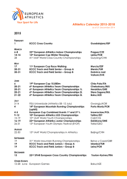 Athletics Calendar 2015-2018 2015