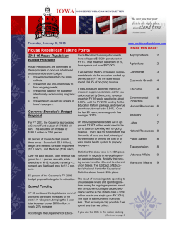 Caucus Newsletter 1-29-2015