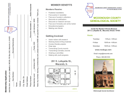 Brochure in PDF format - McDonough County Genealogical Society