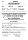 2015 Spring Meal Plan Application