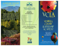 VCLA Brochure Cohort XXI - United Way of Ventura County