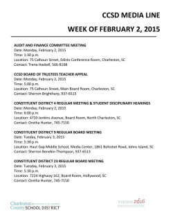 CCSD MEDIA LINE WEEK OF FEBRUARY 2, 2015