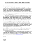 2015 Parent Letter - Pleasant Local Schools
