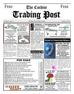 Pages 1 - Cochise Trading Post