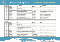 APIdays Sydney 2015 Liberate then Innovate