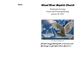 Prayer Bulletin - Wood River Baptist Church