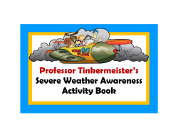 Severe Weather Awareness Week Activity Book