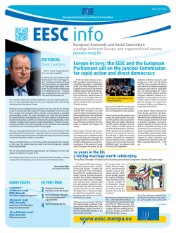 EESC European Economic and Social Committee