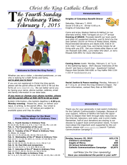Weekly Bulletin - Christ the King Catholic Church