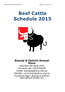 Cattle Schedule and Entry Form