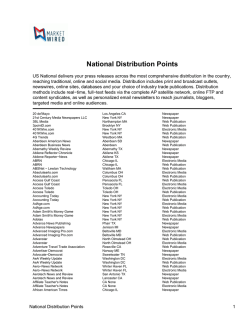 National Distribution Points