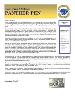 PANTHER PEN - St. Pius X School