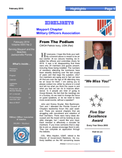 Feb 2015 Issue - Mayport Chapter MOAA