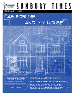 """As For Me and My House"""