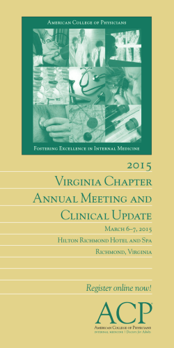 2015 Virginia Chapter Annual Meeting and Clinical Update