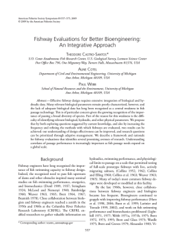 Fishway Evaluations for Better Bioengineering: An