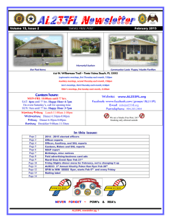 February 2015 Newsletter is now online