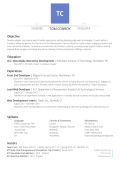 Resume - The Portfolio of Thomas Conroy