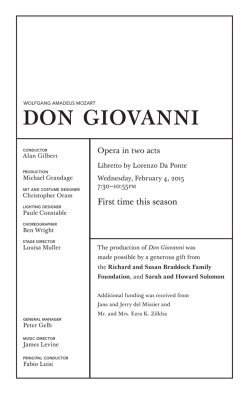 February 4: Don Giovanni