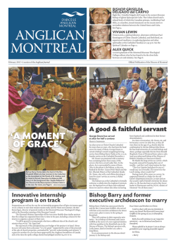 February 2015 - Anglican Diocese of Montreal