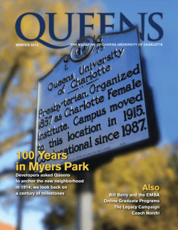 100 Years in Myers Park - Queens University of Charlotte