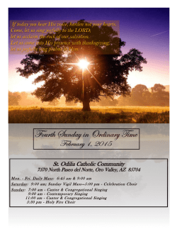 Weekly Bulletin - St. Odilia Catholic Community