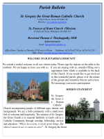 Parish Bulletin - St. Gregory the Great