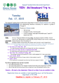 TEEN Ski/Snowboard Trip to…..