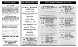 2015 Richmond Hill Winter Carnival Brochure ready