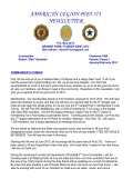 AMERICAN LEGION POST 373 NEWSLETTER