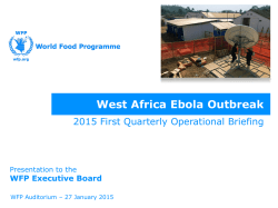 West Africa Ebola Outbreak - WFP Remote Access Secure Services