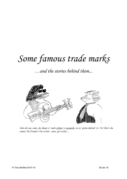 Some Famous Trade Marks
