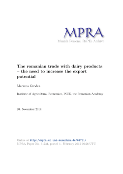 The romanian trade with dairy products