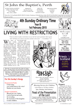 living with restrictions - St John the Baptist RC Church, Perth, Scotland