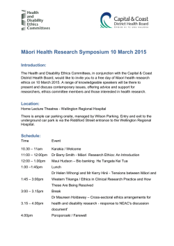 Māori Health Research Symposium flyer