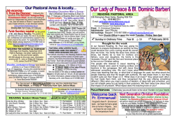 Current newsletter - Our Lady of Peace and Blessed Dominic Barberi