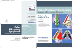 2015 Rhinoplasty Symposium Brochure